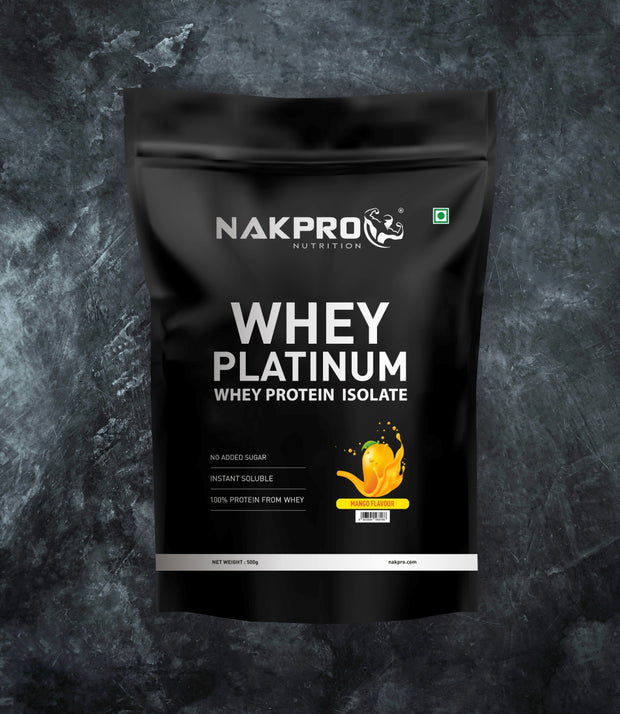 NAKPRO Nutrition whey protein isolate 500 g mango
