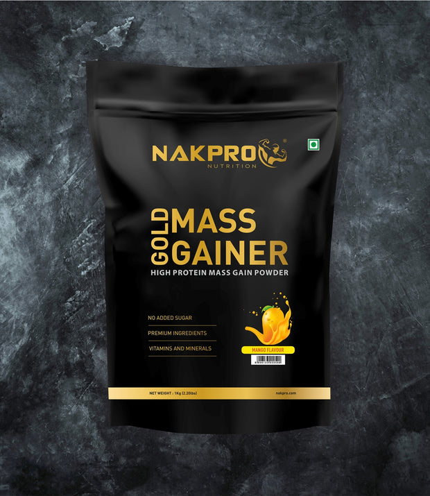 NAKPRO Nutrition Gold Mass Gainer Mango 1kg