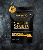 NAKPRO GOLD WEIGHT GAINER MANGO 3KG