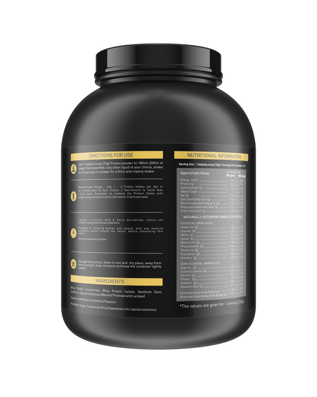 Nakpro Gold 100% Whey Protein with Digestive Enzymes, Whey Protein Supplement Powder from USA - Vanilla