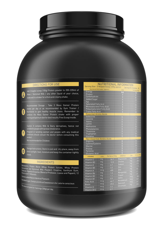 Nakpro Sports Gold Mass Gainer Protein  - Mango