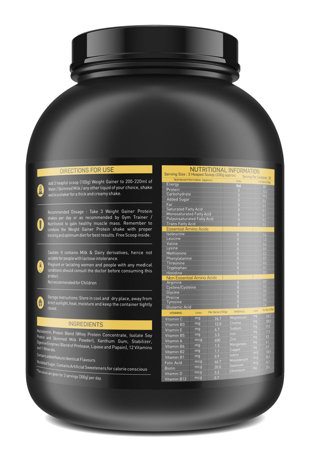 Nakpro Sports Gold Weight Gainer  - Vanilla