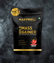 NAKPRO Nutrition Gold Mass Gainer Strawberry 3Kg