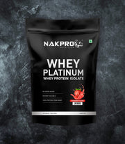 NAKPRO Nutrition whey protein isolate 1kg strawberry
