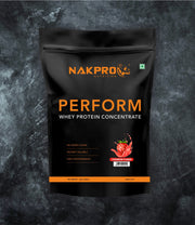 NAKPRO Nutrition Perform whey protein powder 1 kg strawberry pack