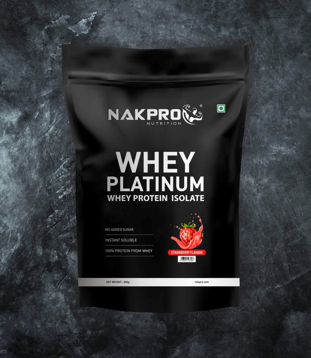 NAKPRO Nutrition whey protein isolate 500 g strawberry