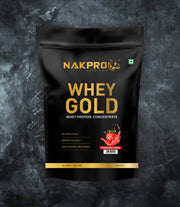 NAKPRO Nutrition whey protein concentrate whey protein powder 1 Kg strawberry
