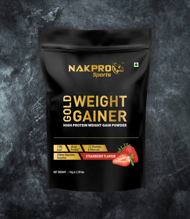 NAKPRO GOLD WEIGHT GAINER STRAWBERRY 1KG