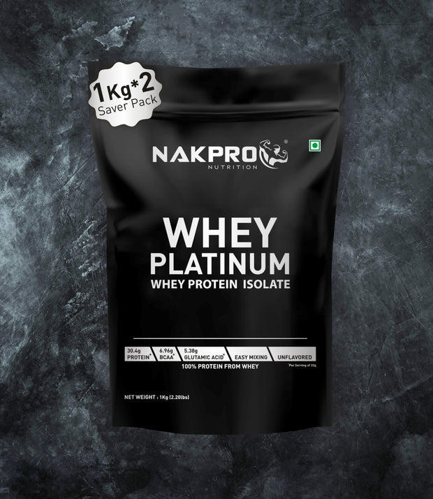 NAKPRO Nutrition whey protein isolate 2 Kg unflavored