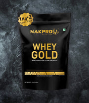 NAKPRO Nutrition whey gold concentrate whey protein powder 2 Kg unflavored