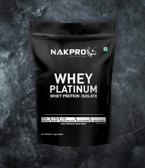 NAKPRO Nutrition whey protein isolate 1 kg unflavored