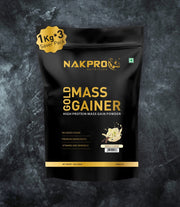 NAKPRO Nutrition Gold Mass Gainer Vanilla 3Kg