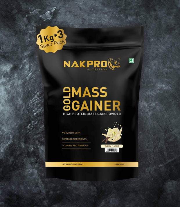 NAKPRO GOLD MASS GAINER VANILLA 3KG