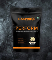 NAKPRO Nutrition Perform whey protein powder 1 kg pack in vanilla blend