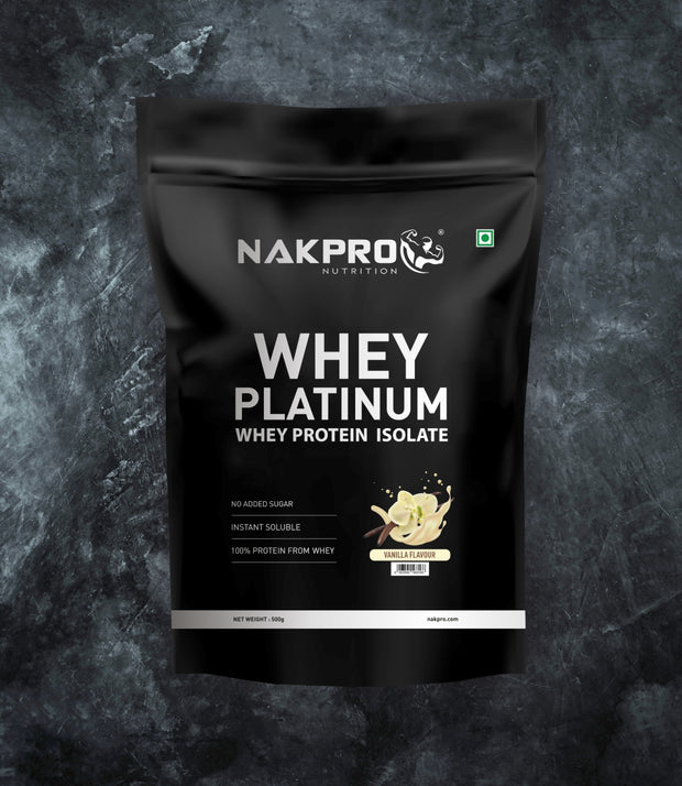 NAKPRO WHEY PLATINUM WHEY PROTEIN ISOLATE | FLAVOR COMBO (500G * 4) 2KG