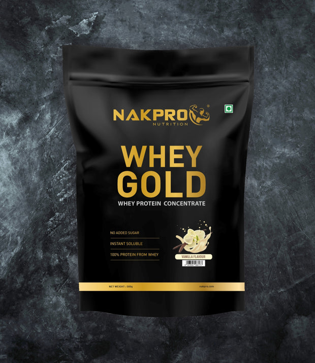NAKPRO WHEY GOLD | WHEY PROTEIN CONCENTRATE, PROTEIN SUPPLEMENTS POWDER | FLAVOR COMBO (500G * 4) 2KG