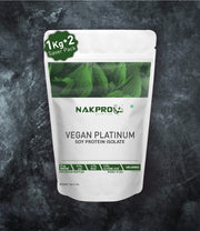 NAKPRO NUTRITION VEGAN PLATINUM SOY PROTEIN ISOLATE UNFLAVORED 2KG