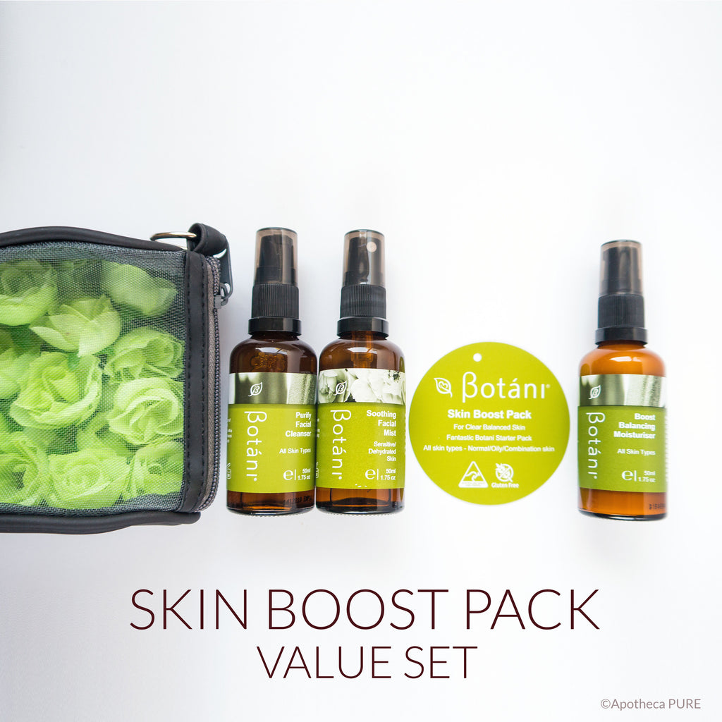 Botani SKIN BOOST PACK (3-pc. Full-Size Value Set) Cleanser, Hydrating Mist Toner, Moisturizer - A-PURE Skincare Boutique