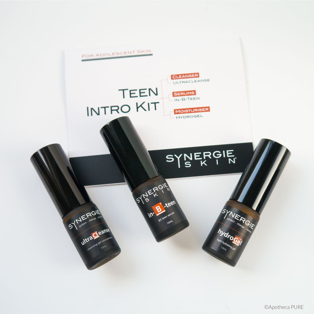 Synergie TEEN INTRO KIT (For Luminosity, Hydration & Blemish Concerns – with Vitamin B3) - A-PURE Skincare Boutique