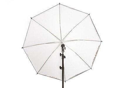 "40"" White Translucent 2 in 1 Umbrella"