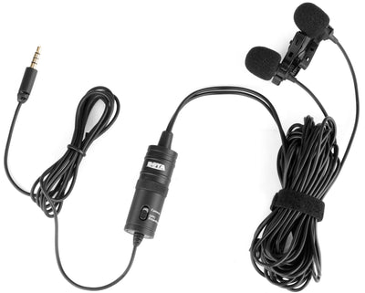 Boya BY-M1DM Dual Omni-Directional Lavallier Microphone - Strobepro Studio Lighting