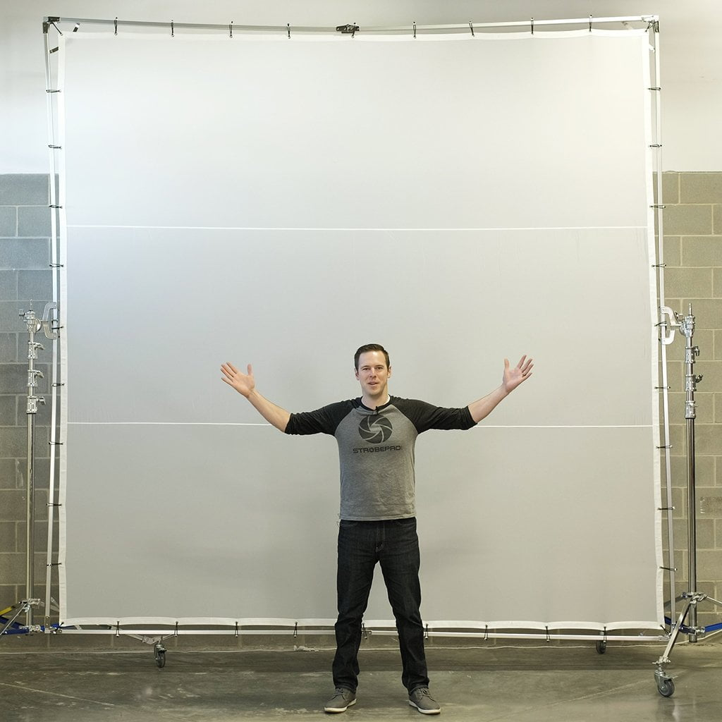 12'x12' Butterfly Scrim with Stands Kit - Strobepro Studio Lighting