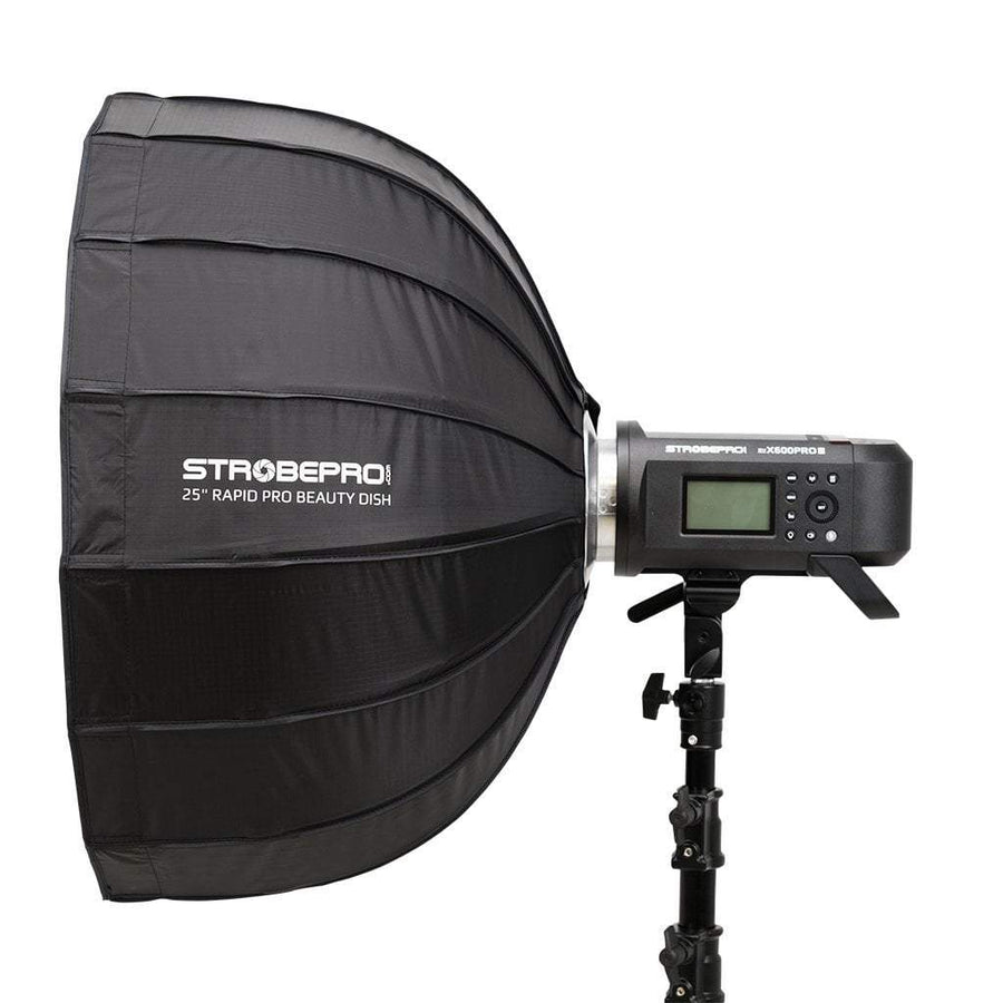 "Strobepro 25"" Rapid Pro Deep Beauty Dish Kit - Silver - Strobepro Studio Lighting"