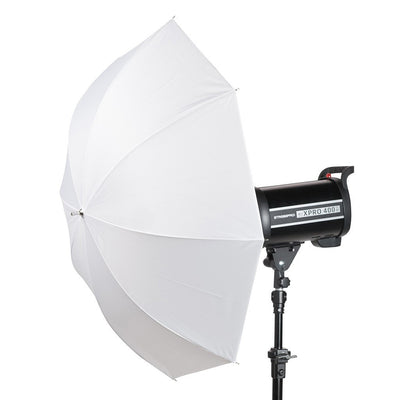 "33"" White Translucent 2 in 1 Umbrella - Strobepro Studio Lighting"
