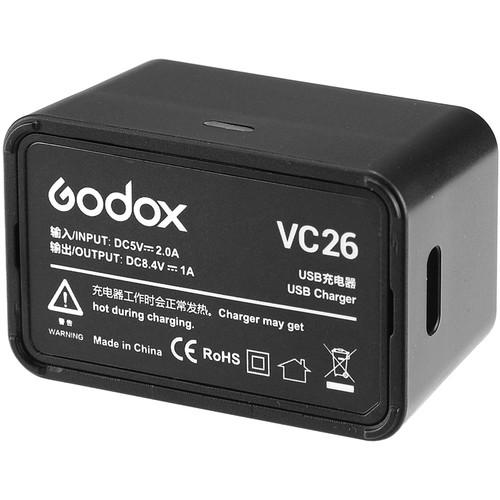 Godox VC26 USB Charger for V1 Lithium Battery - Strobepro Studio Lighting