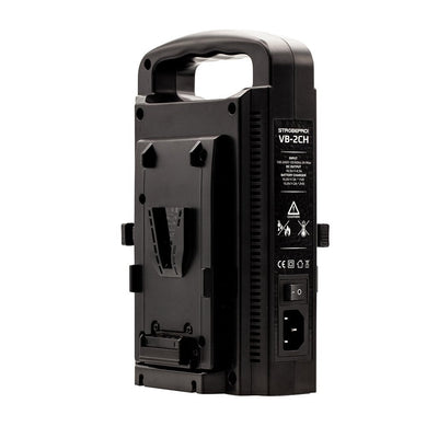 Strobepro VB-2CH Dual V-Mount Battery Charger - Strobepro Studio Lighting