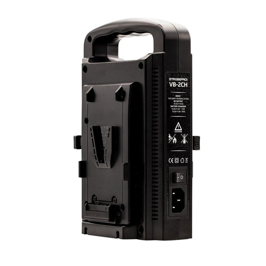 Strobepro VB-2CH Dual V-Mount Battery Charger