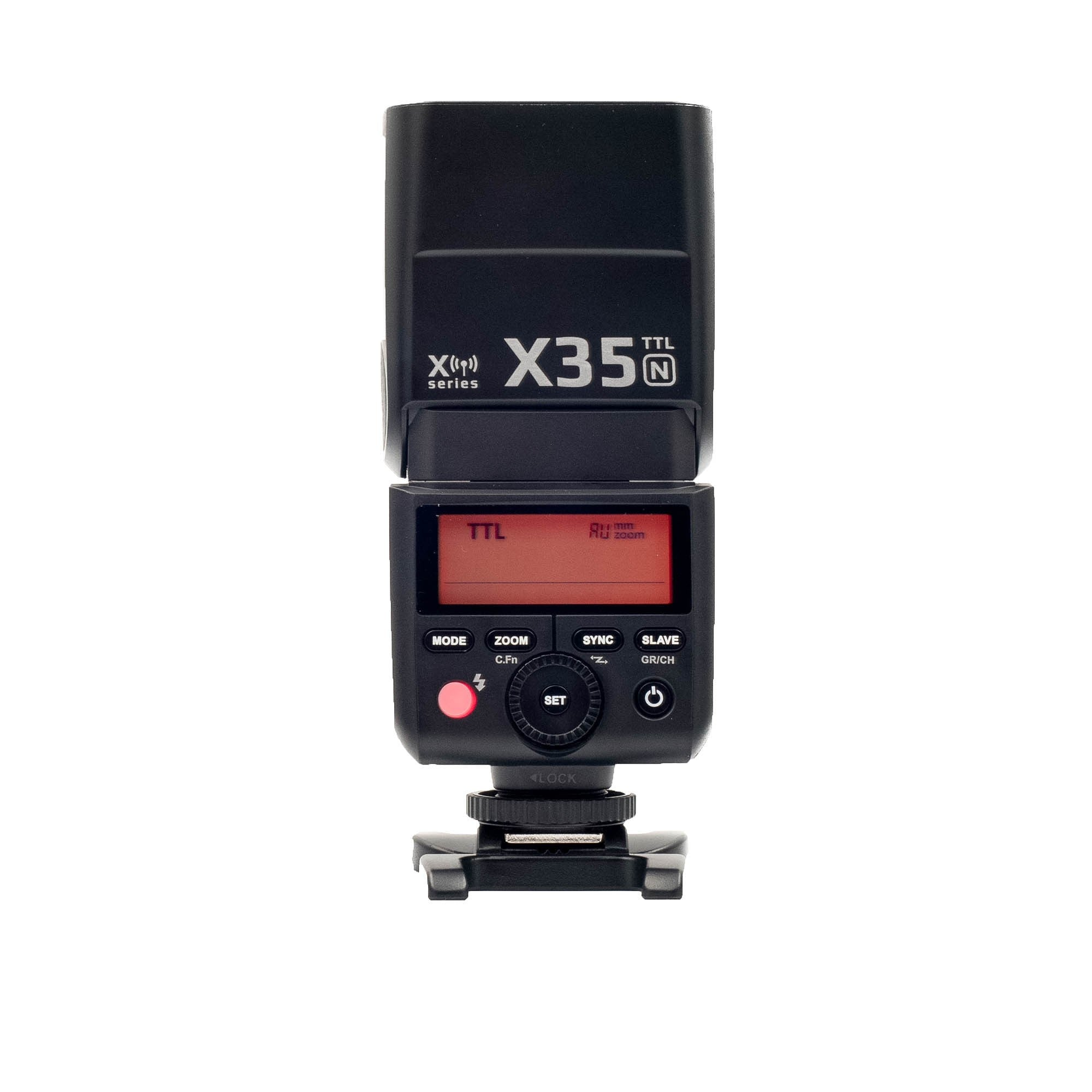 Strobepro X35N (Godox TT350N) TTL Mini Wireless Speedlite Flash - Nikon - Strobepro Studio Lighting