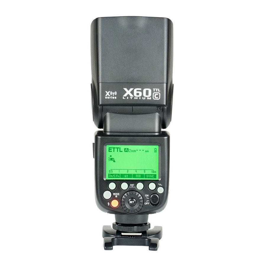 Strobepro X60C TTL Lithium Battery Wireless Speedlite - Canon - Strobepro Studio Lighting