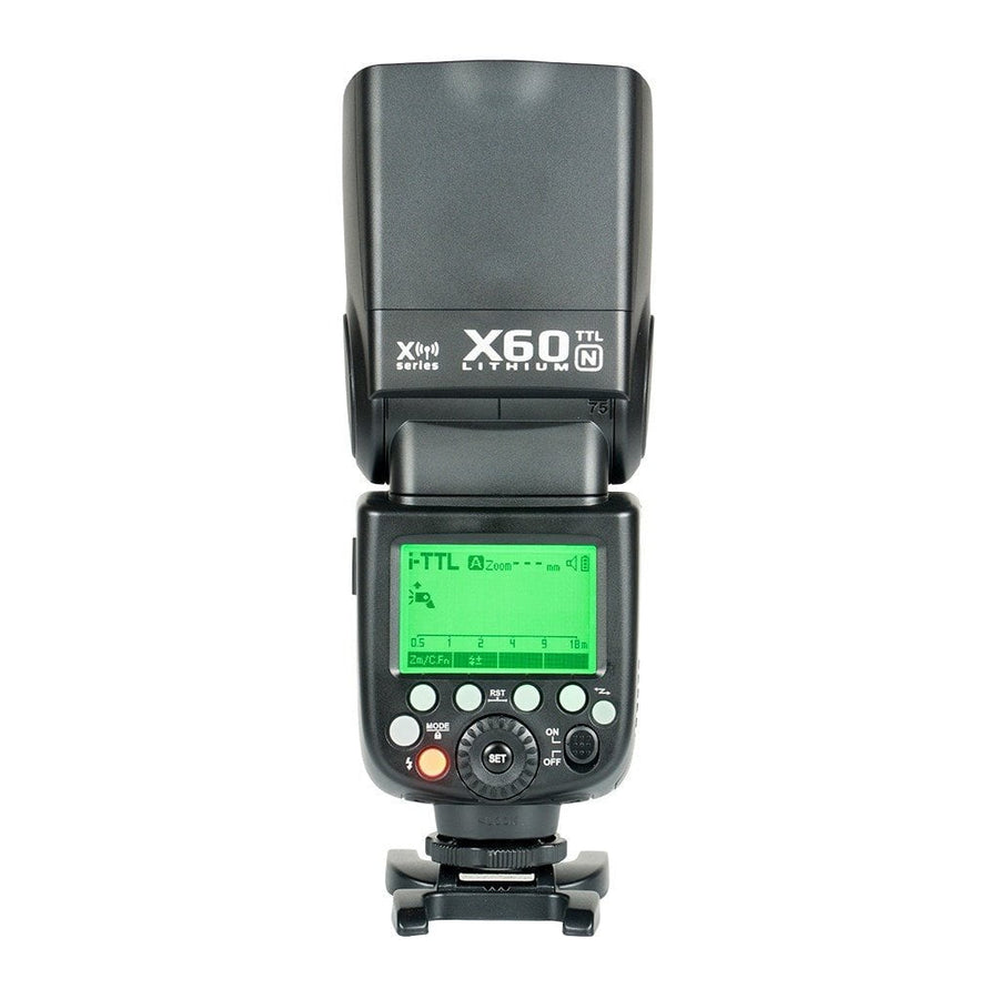 Strobepro X60N TTL Lithium Battery Wireless Speedlite - Nikon - Strobepro Studio Lighting