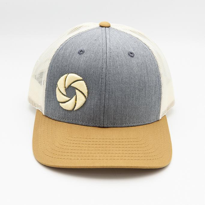 Strobepro Low Profile Snapback Shutter Hat-HEATHER GREY/BIRCH/AMBER GOLD