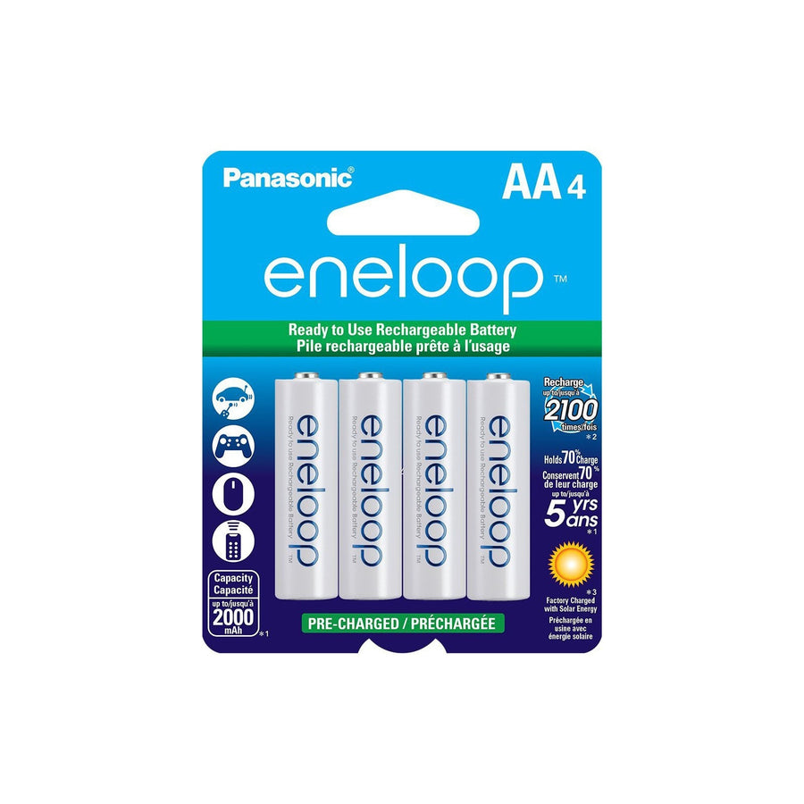 Eneloop AA Rechargeable Batteries- 4 Pack - Strobepro Studio Lighting