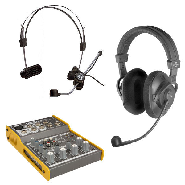 FM Unit: Package #3 - Wired Headset, Wired Mic/Headphone
