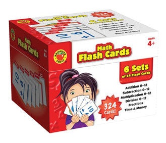 Brighter Child Math Flash Cards Box Set