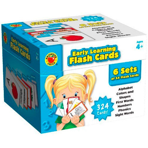 Brighter Child Early Learning Flash Cards Box Set