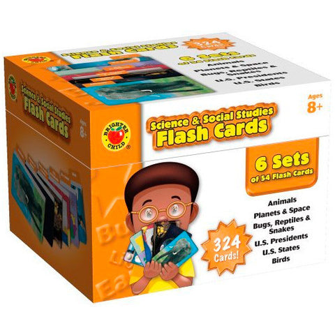 Brighter Child Science & Social Studies Flash Cards Box Set