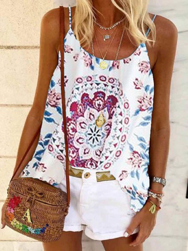 Round Neck Sleeveless Shirts & Tops