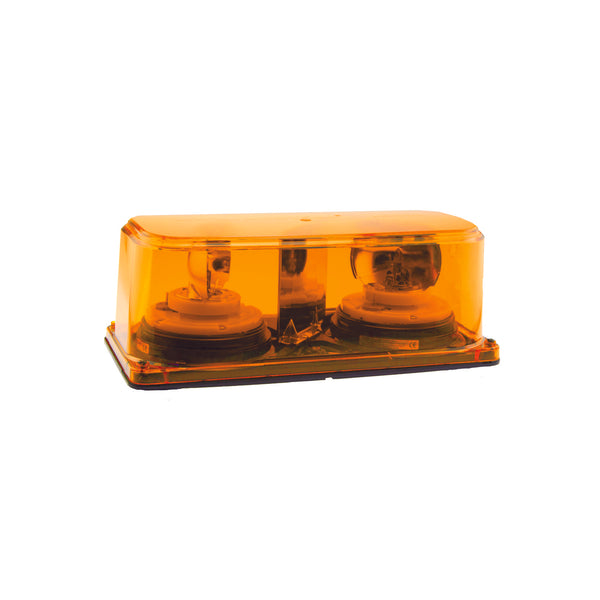 Amber Halogen Rotating Mini Light Bar Hard Wire