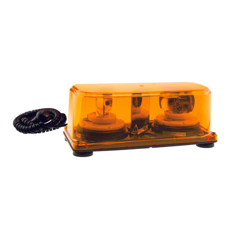 Amber Halogen Rotating Mini Light Bar Magnetic