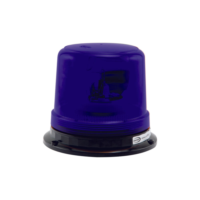 Blue Rotating Beacon Hard Wire