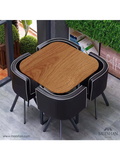 Tussock Dining Set - Black and brown