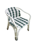 Faulkner Stripe Check Chair - White and Green