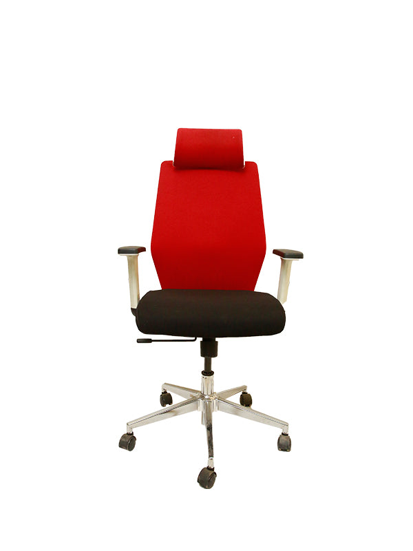 Seeger Premium Chair-Black and red
