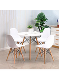 Bargas Dining Set - White