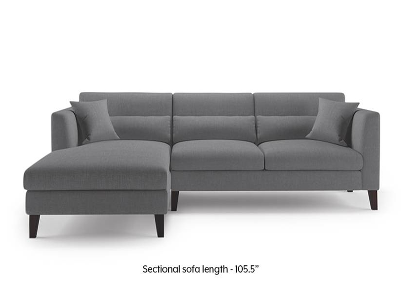 Ofarrell L Shaped Sofa- Gray