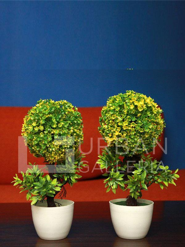 Fraisse Table Planter Pair Green